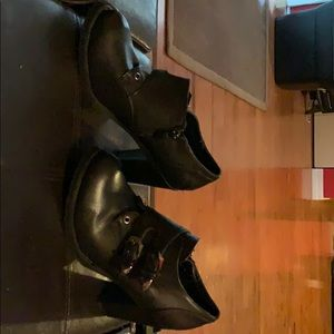 Women's report black ankle boots
